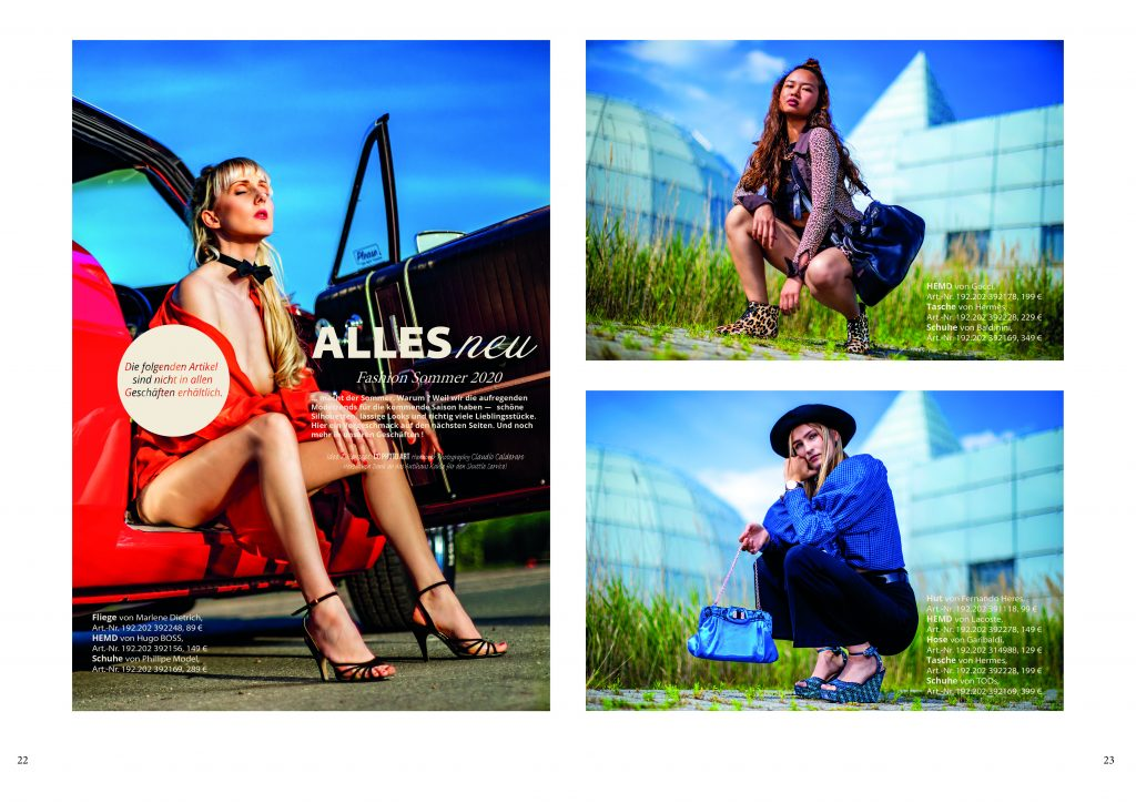 Fashion Magazin Doppelseite