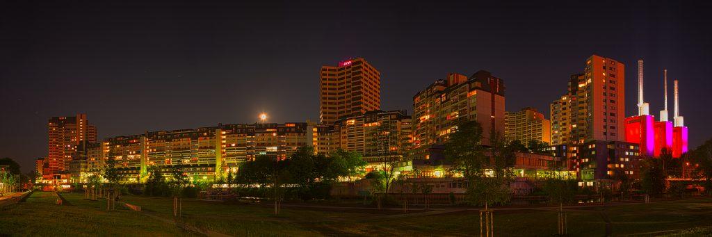 Panorama vom Ihme Zentrum bei Nacht